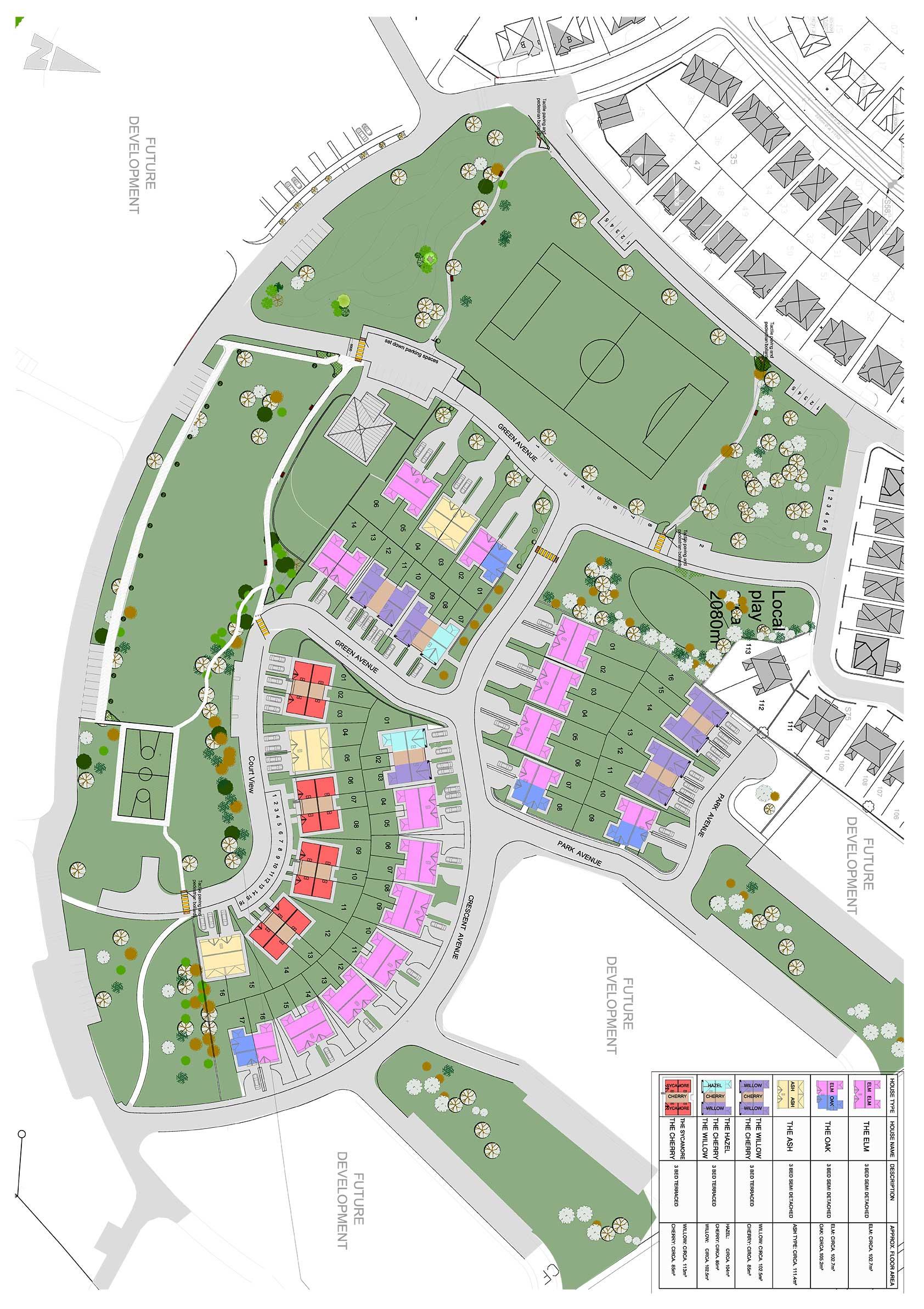 Friary Walk Site Plan